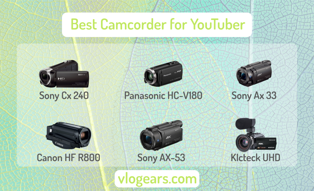 Best camcorder for youtube streaming infographic